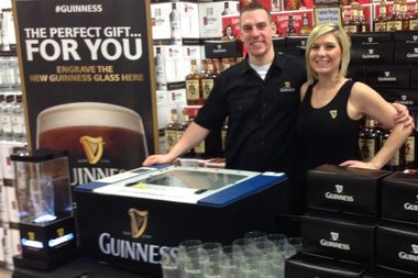 Get A Free Guinness Pint Glass Engraved With Your Name At Cork & Kerry